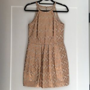 Rose Gold Metallic Cocktail Dress🍸🌟